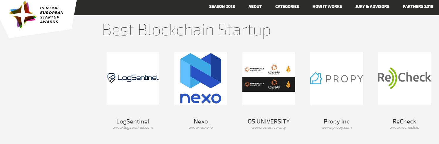 logsentinel-shortlisted-best-startup-blockchain